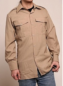 Assorted Military Officer Long Sleeve Dress Shirt - Vintage
