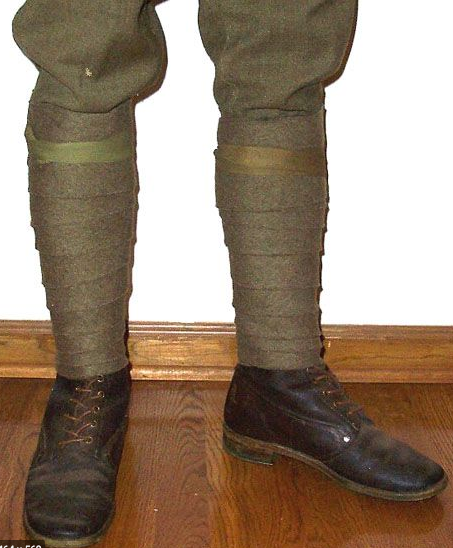 Military Doughboy Puttees (Gaitors) - Vintage - Allied Forces