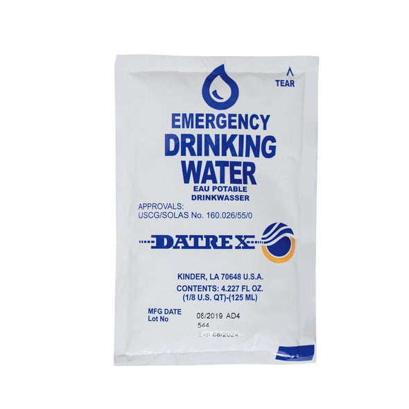 DATREX EMERGENCY WATER 8 LITERS, 64 BAGS PER CASE