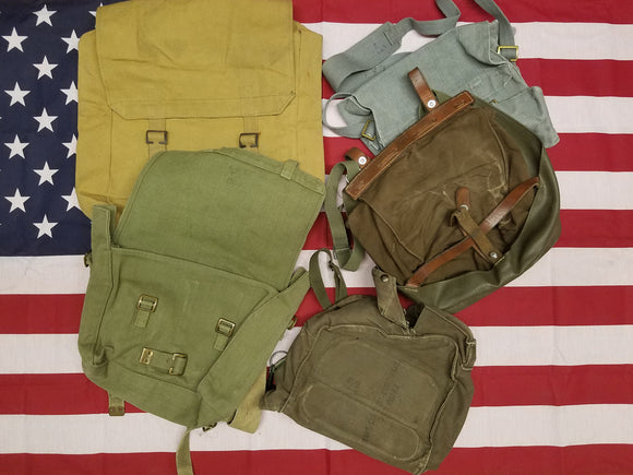 Assorted Military Surplus Haversacks (shoulder bags) - Vintage