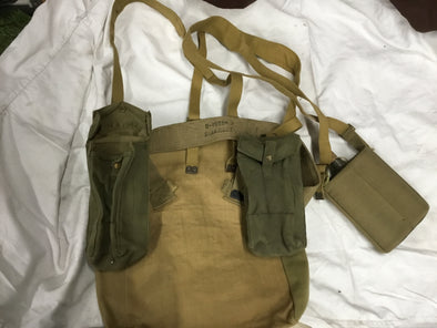WWII Issued British Field Gear Set (Grade A+)