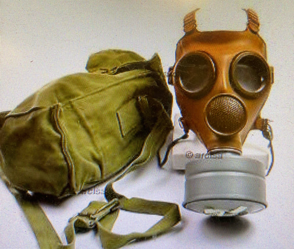 Belgian Gas Mask with Filter & Bag