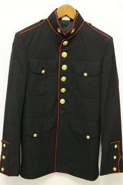 Authentic USMC Dress Blue Jacket - 39R