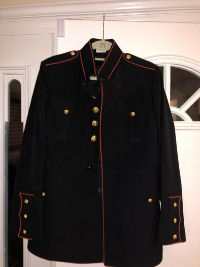 Authentic USMC Dress Blue Jacket - 40R