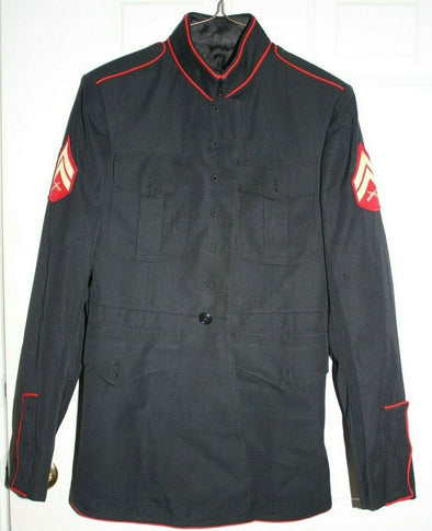 Authentic USMC Dress Blue Jacket - 39R - Missing Buttons
