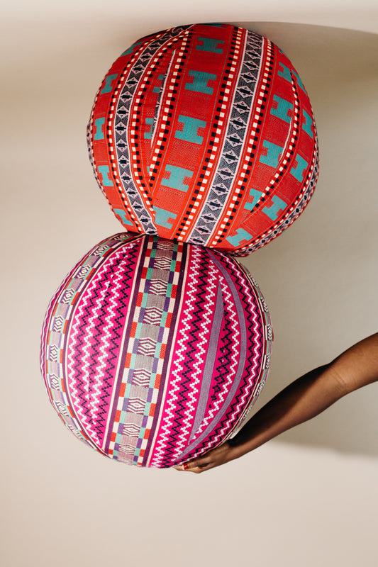 Afua Kente Floor Sphere