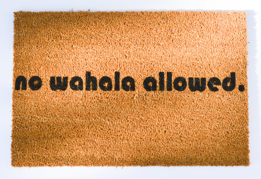 No Wahala Allowed Doormat