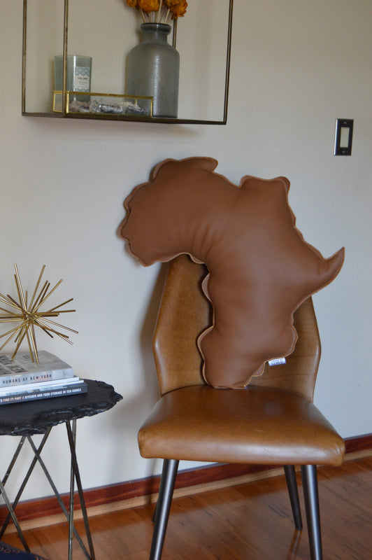 Seyi Africa Shaped Pillow