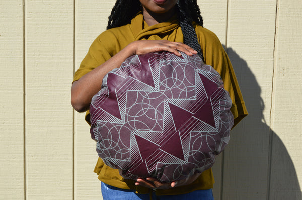 Olamide Ankara Circle Pillow
