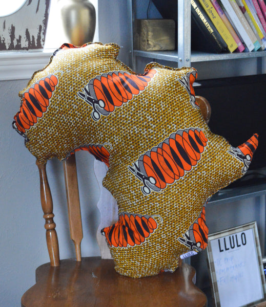 Iyiola Africa Shape Pillow