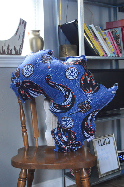Afolabi Africa Shape Pillow