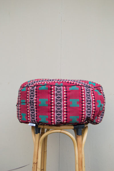 Afua Kente Floor Pouf