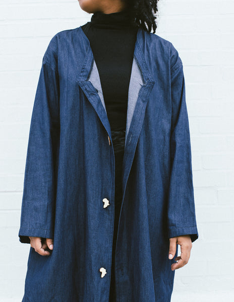 Long Africa Denim Duster