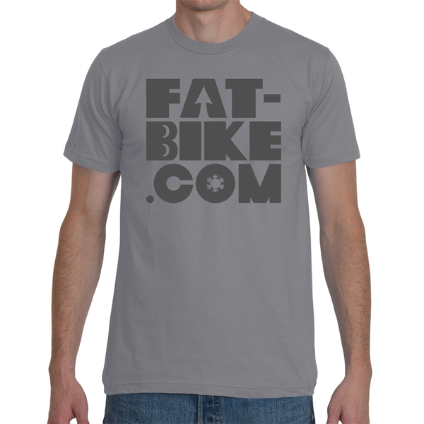 Grey Fat-bike Logo T-Shirt