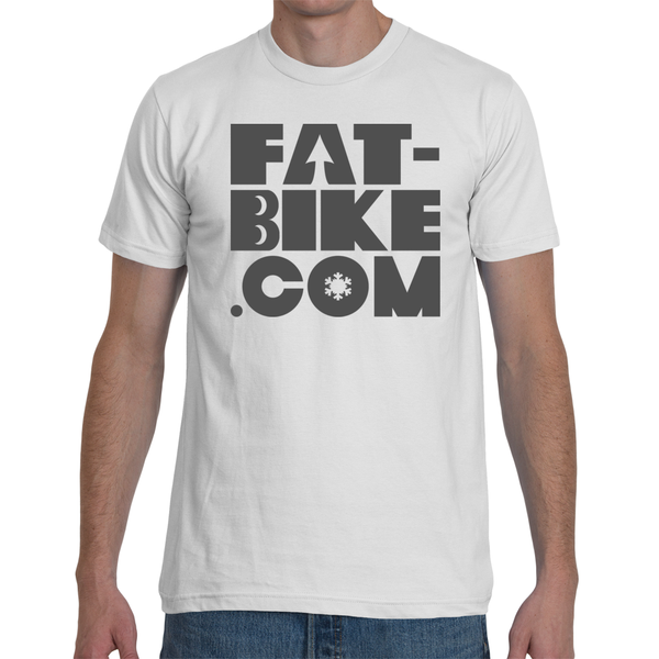 White Fat-bike.com Logo T-shirt