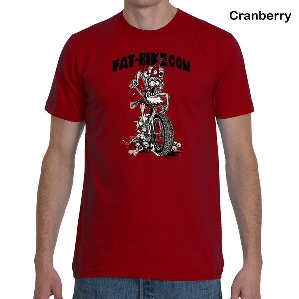 Fat-bike.com Gnome T-Shirt Cranberry/Red