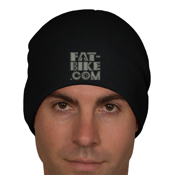 Embroidered Fat-bike.com Logo on Beanie