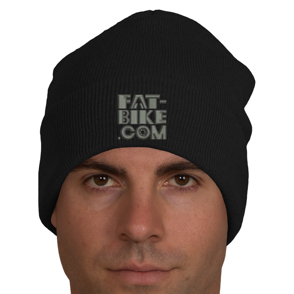 Embroidered Fat-bike.com Logo on Beanie w/Cuff
