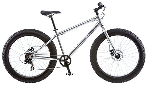 Mongoose Men's Malus Fat-Bike, Silver