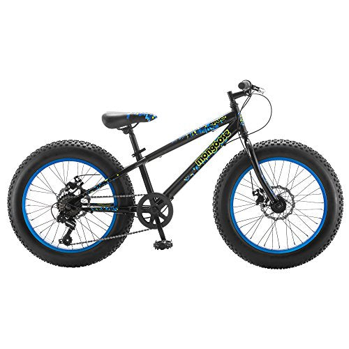 "Mongoose Pug 20"" Wheel Boy's Fat Tire Bicycle, Black"