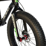 "BEIOU 2017 Full Carbon Fat Tire Bicycle Fat Mountain Bike 26 Inch 4.0"" Tire Mountain Bicycle 19 Inch Shimano Altus 9 Speed 14.5kg T700 Glossy 3K CB023"