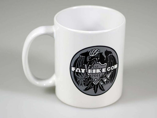 Fat-bike Moonlander and Raven Logo Coffee Mug