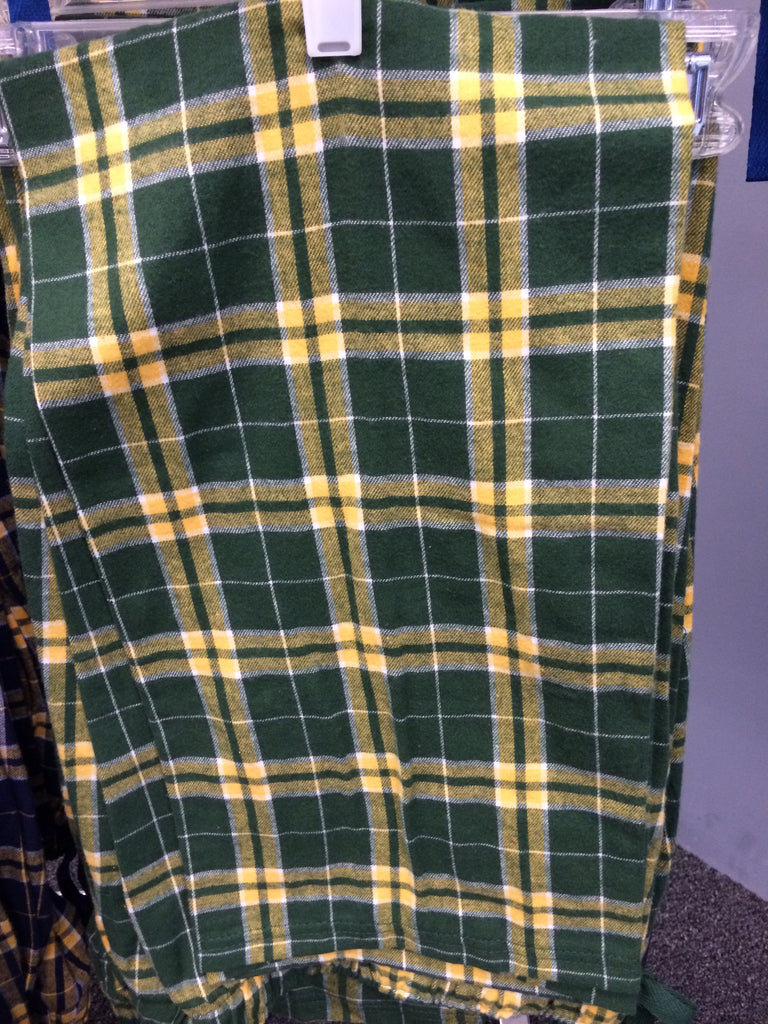 ADULT GREEN/GOLD FLANNEL PANT