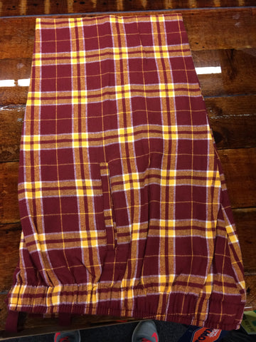ADULT GARNET/GOLD FLANNEL PANTS