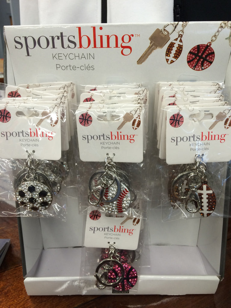 BLING SPORTS KEYCHAIN