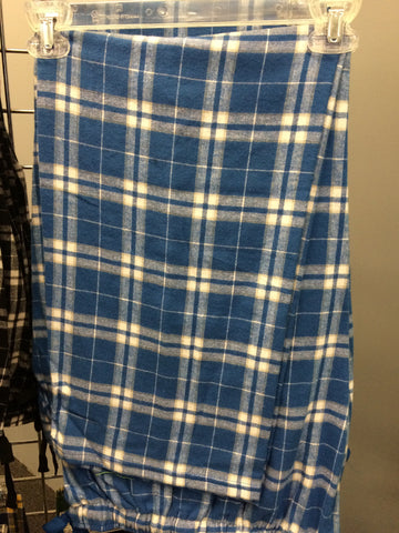 ADULT ROYAL/SILVER FLANNEL PANTS