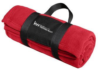 KW FLEECE BLANKET WITH CARRYING STRAP