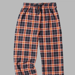 ADULT BLACK/ORANGE FLANNEL PANTS