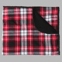 FLANNEL BLANKET - RED/BLACK