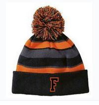 COMEBACK BEANIE - BLACK/ORANGE EMBROIDERED
