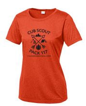 CUB SCOUTS LADIES HEATHER CONTENDER SCOOP NECK TEE