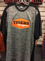 MEN'S POSICHARGE ELECTRIC HEATHER COLORBLOCK TEE W/ TIGERS LOGO
