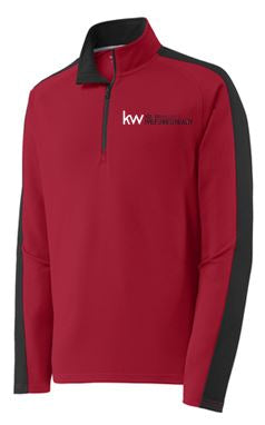 KW SPORT-WICK TEXTURED COLORBLOCK 1/4 ZIP PULLOVER