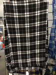 ADULT BLACK/WHITE FLANNEL PANTS
