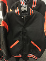 LETTER JACKET WITH LEATHER SLEEVES