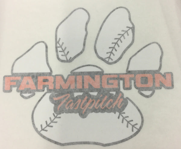 CAR DECAL - FARMINGTON FASTPITCH