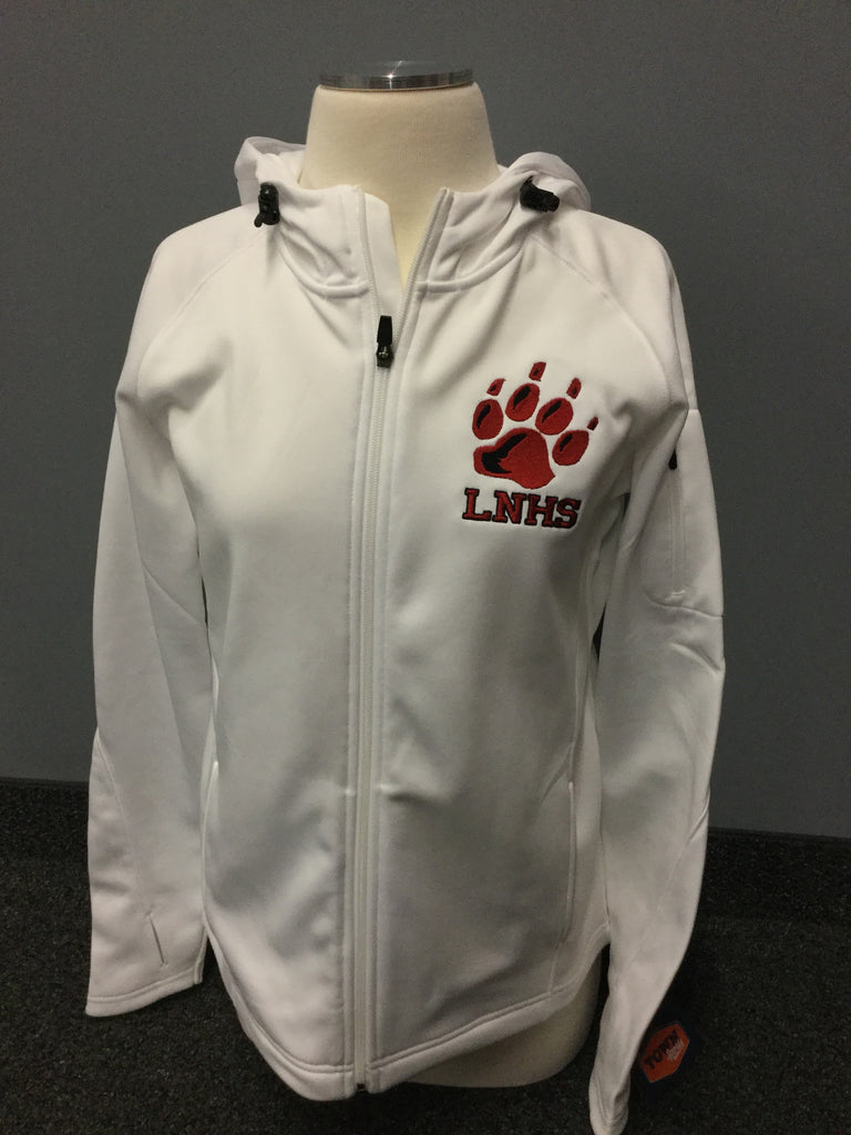 LAKEVILLE NORTH FULL ZIP HOODIE - WHITE