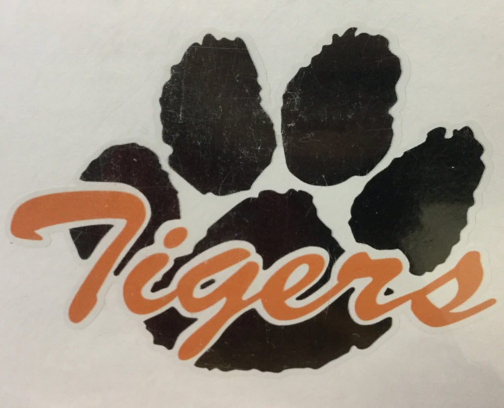 CAR DECAL-TIGER PAW