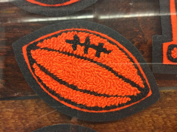 CHENILLE FOOTBALL PATCH