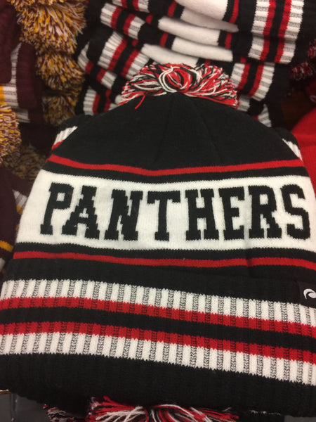 KNIT LAKEVILLE PANTHER POM HAT