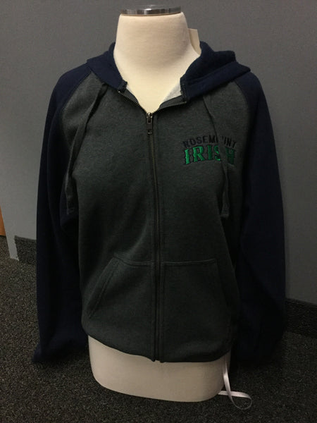 IRISH COLOR BK FZ SWEATSHIRT