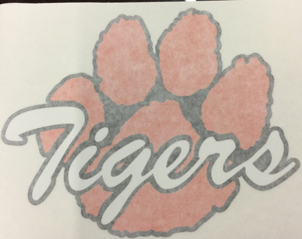 CAR DECAL - LARGE TIGER PAW