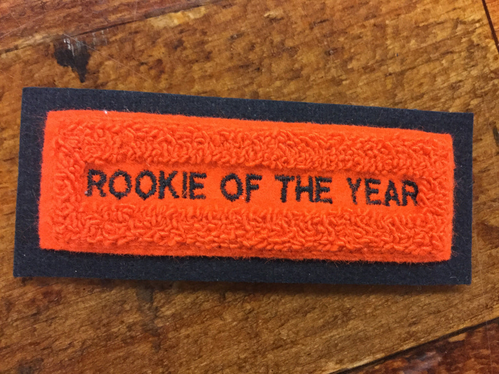 CHENILLE ROOKIE OF THE YEAR PATCH