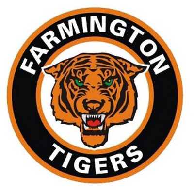 CAR DECAL - FARMINGTON TIGERS HOCKEY LOGO