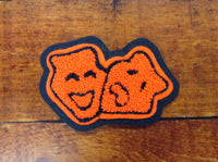 CHENILLE THEATER MASK PATCH