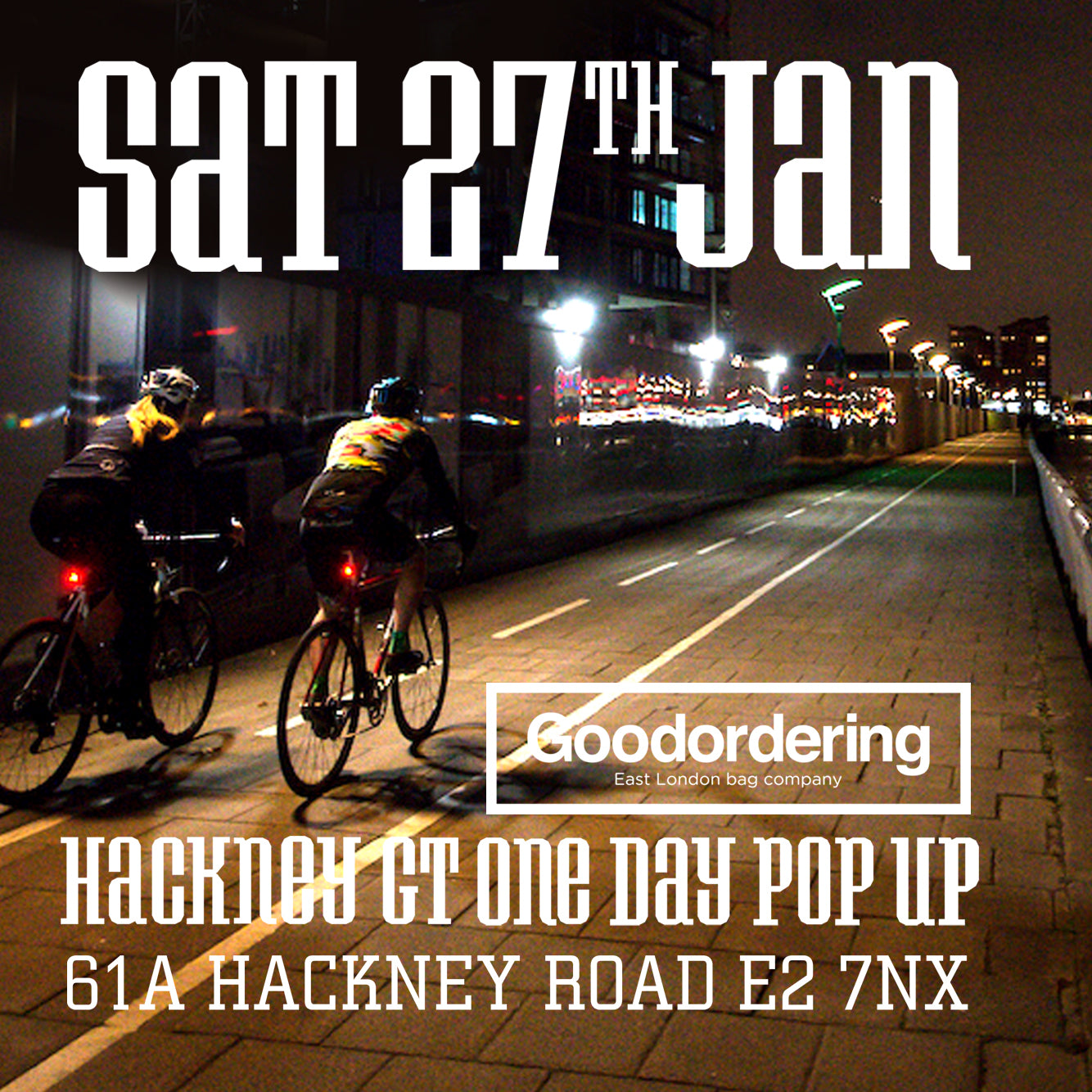 Hackney GT one day pop up